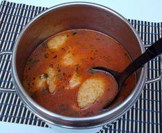 Supa de rosii cu galuste din gris - Bunătăți din bucătăria Gicuței Cheeseburger Chowder, Food And Drink, Ethnic Recipes, Recipes, Romanian Recipes, Cooking Recipes