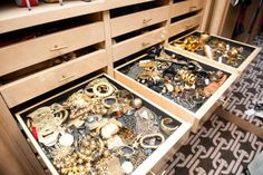 Jewelry drawers!  SHELTER