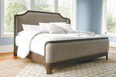 Corraya Queen Upholstered Panel Bedroom Set Ashley