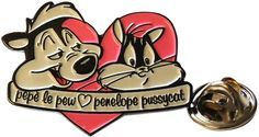 Looney Tunes. Pepe le Pew Loves Penelope Pin Badge Retro cool Funky Gift | eBay