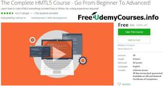 [#Udemy 100% Off] The Complete HMTL5 Course - Go From Beginner To Advanced!   About This Course  Published 10/2016English  Course Description   Join Over 2000 StudentsWho Have Enrolled In My Courses!   Over 75% Five Star ReviewsShows Students Who Enrollin