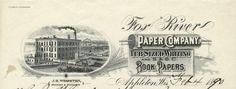Fox River Paper Company Letterhead | Print | Wisconsin Historical Society