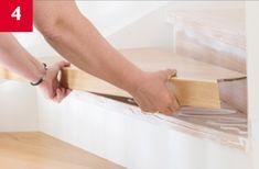 Lundbergs trapprenovering steg 4 - montera det nya steget