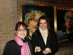 M'Liss with Brooke Shields - Last month while we were in NYC we attended a Broadway Show.  Also in attendance was Brooke Shields.    We exited the theatre together and we spoke, Michael snapped this picture and I got her autograph!