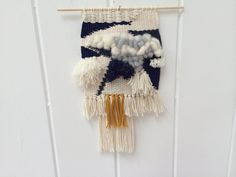 Wall Hanging // Handmade // Tapestry // Am I Blue by annienbee