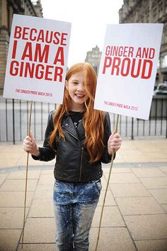 i have a lot of feelings about this. The first UK Ginger Pride Walk, during the Edinburgh Fringe Festival (2013)