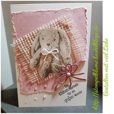 StampinUp, Babykarte mit dem Stempelset Süßes Häschen