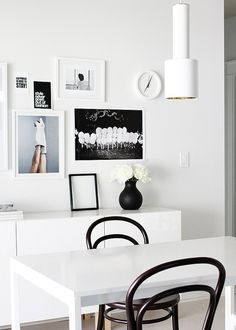 collage wall by AMM blog, via Flickr  #nordicdesigncollective