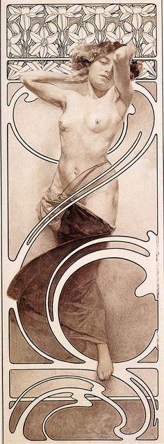 Alphonse Mucha (Check 1860-1939).... Color lithograph ,1897