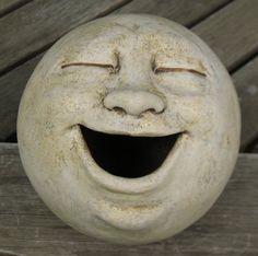 laughing garden sculpture, clay