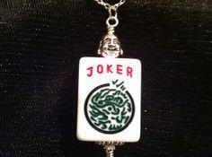 Joker Mah Jongg Pendant by HighFlyDesigns on Etsy, $25.00