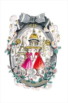 How adorable is this @Dior x @Marcy Pope Christmas illustration?!