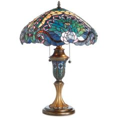 tiffany style table lamp | Tiffany-Style Stained Glass Peacock Table Lamp. | Compare price and ...