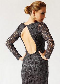 outstanding backless dress crochet