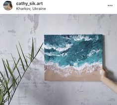 Pour Painting, Acrylic Pouring, Ocean Waves, My Arts, Tapestry, Canvas, Beach, Diy, Color