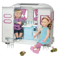 Buy Our Generation R.V Seeing you Camper Van from UK Official Reseller Our Generation World. Og Dolls, Girl Dolls, American Girl Diy, Journey Girls, Our Generation Dolls, Rv Campers, Retro Cars, My Little Girl, Girls Accessories