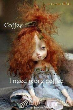 O - Ooak Art Dolls funnel cake king arthur - Funnel Cake Coffee Talk, Coffee Is Life, I Love Coffee, Coffee Break, My Coffee, Coffee Lovers, Coffee Theme, Coffee Humor, Coffee Quotes