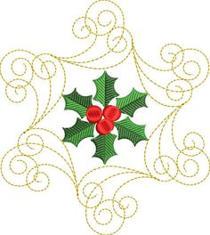 Holly Swirl Set | What's New Embroidery Designs | Products | SWAK Embroidery Creatively Yours