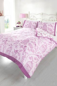 Bird Cage Duvet Set - King Size  For more gorgeous things, visit my Facebook shop http://on.fb.me/1LdAtgt