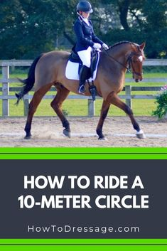 When you reach novice level dressage, you will be required to perform circles. Although this may sound straightforward, there's more to executing this movement correctly than you might at first think. Click the link to find out more. Horse Riding Tips, My Horse, Rider Song, Horse Exercises, Equestrian Outfits, Equestrian Style, Horse Training, Show Jumping, Horseback Riding