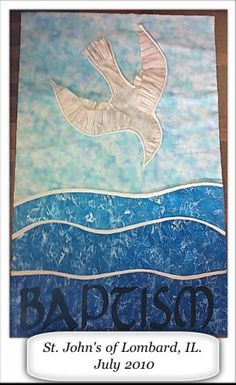 St John's Lombard IL Baptismal Banner | JustHatchedProductions ArtFire Gallery