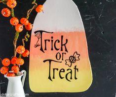 Halloween Activities, Candy Corn, Trick Or Treat, Halloween Decorations, Treats, Homemade, Reuse, Creative, Party
