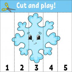 Cut and play. Game for kids. Activity page. Puzzle for children. Riddle for preschool. Fun Activities For Kids, Math Activities, Games For Kids, Flashcards For Kids, Worksheets For Kids, Color Puzzle, Number Puzzles, Kids Pages, Learning Numbers