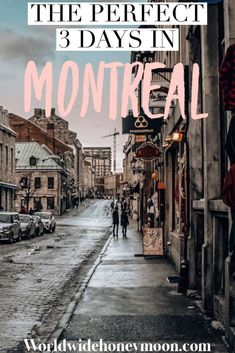 If you are searching for the ultimate 3 days in Montreal itinerary this is the perfect place to look! Montreal is such a vibrant city full of gorgeous Mont Royal Montreal, Quebec Montreal, Montreal Travel, Old Montreal, Montreal Ville, Quebec City, Weekend Trips, Weekend Getaways, Long Weekend