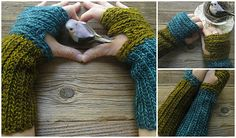 Ravelry: Mrs.Fitz Inspired Mini Mitts Crocheted Version 1.0 Outlander (with Wristwarmer option) pattern by Polly Foo Foo