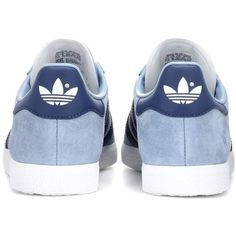 Adidas Originals Gazelle Suede Sneakers (435 DKK) ❤ liked on Polyvore featuring shoes, sneakers, suede sneakers, blue shoes, adidas originals, suede trainers and adidas originals shoes
