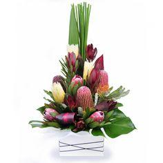 Hunter - Deluxe flatback style arrangement of mixed Australian native flowers.