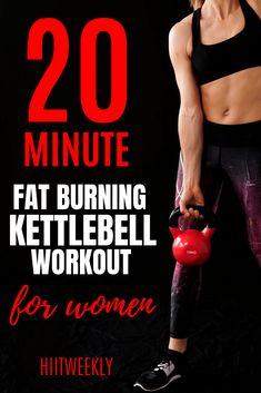 Kettlebell Training, Kettlebell Workouts For Women, Kettlebell Hiit, Full Body Kettlebell Workout, Cardio Training, Best Cardio Workout, At Home Workouts, Kettlebell Challenge, Fat Workout