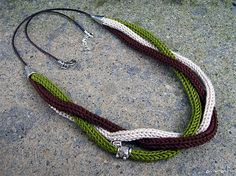 collana necklace tricotin by airali_gray, via Flickr