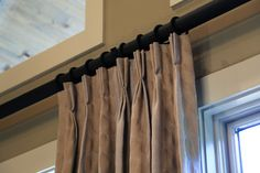 Drapery Nation Thick Faux Iron Curtain Rod With Pleated Drapes Parade Of Homes Draperynation