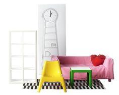 ikea huset: mobiliario muñecas salón #1h #pendel