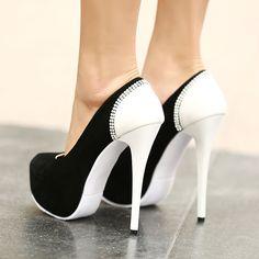 Chic Design Back Rhinestones Line Women's High-heel Prom Shoes 10724057 - Prom Shoes - Dresswe.Com