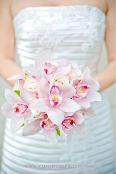 Modern Pink orchid bouquet perfect for your Diy or Destination Wedding…