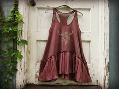 Purple Boho Festival Tank Top Tunic// Upcycled by emmevielle