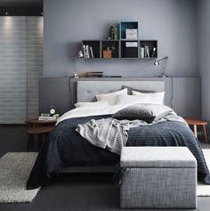 ÅRVIKSANDs bløde hovedgærde er rigtig behageligt til læsning i soveværelset.