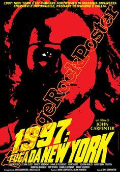 Cod. 480  1997: FUGA DA NEW YORK  Original title: Escape from the Bronx  Director: John Carpenter  Cast: Kurt Russell, Lee Van Clef  Year : 1981  #vintagerockposter #themycia #tarlotoys #escapefromthebronx #fugadanewyork #movieposter #cultmovie #kurtrussell #johncarpenter