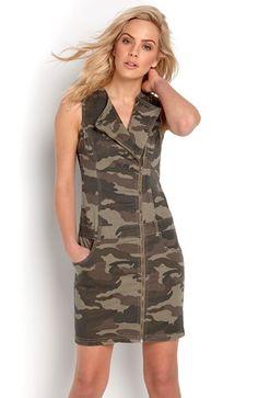 Mega fede TrulyMine Kjole Julie Kamuflage TrulyMine Overdele til Outlet i luksus kvalitet