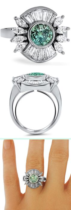 This ring has a gorgeous color and shape!