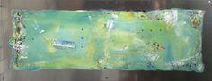 Painting on aluminum and acrylic.   Artist: Elisabeth Takvam.  60x170 cm
