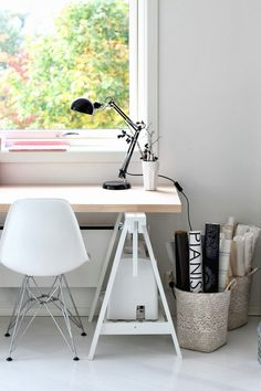 Incredible Ikea Home Office 14 Home Office Design, Home Office Decor, House Design, Office Desk, Grey Office, Office Designs, Bureau Design, Workspace Inspiration, Home Decor Inspiration