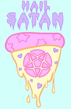 kawaii, pizza, and pastel image Goth Wallpaper, Kawaii Wallpaper, Pastel Wallpaper, Alien Iphone Wallpaper, Pastel Goth Background, Art Background, Baphomet, Gothic Kunst, Pastel Goth Art