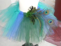 {tags: peacock; tutu; girl} for flower girl