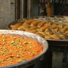 Knafeh and atayef...yummy!!!