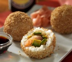 Sushi Rice Balls with California Avocado