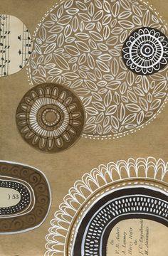 susan black design Zentangle Patterns, Zentangles, Susan Black, Flower Collage, Sunflower Art, Collages, Collage Illustration, Black Artists, Mixed Media Collage