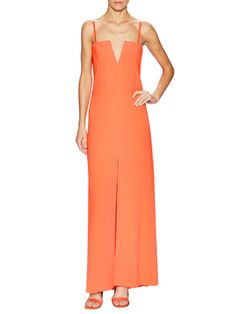 BCBGMAXAZRIA Joice Deep V-Neck Evening Dress